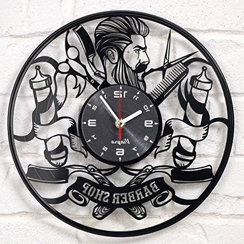 barber shop clock vinyl record