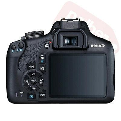 Canon 2000D Rebel T7 SLR + 3 Lens 18-55mm 16GB Flash &