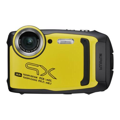 finepix xp140 digital camera yellow 16gb sd