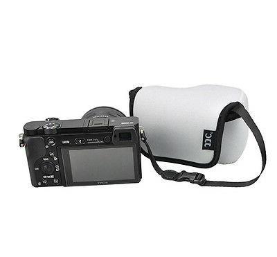 JJC Gray Mirrorless Camera Pouch Case Sony A6300 A6000 A5100