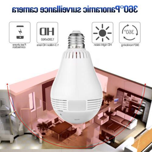 Security WiFi Wireless Smart Spy Bulb Camera Home Surveillan