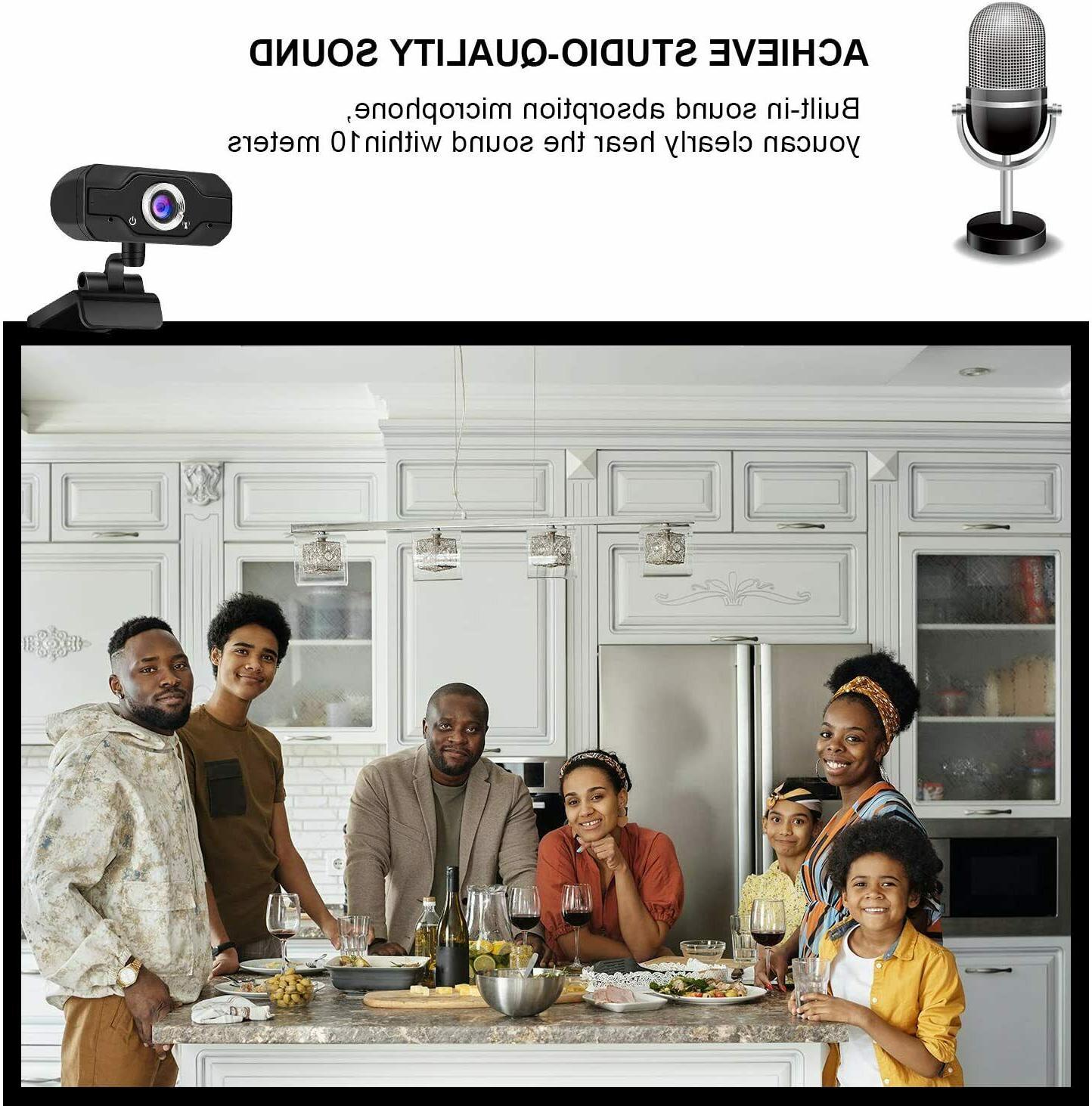HD Microphone USB Camera PC/Mac Video Call