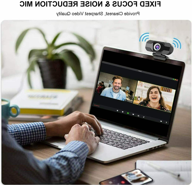 HD Webcam with Microphone PC/Mac Laptop/Desktop Video Call