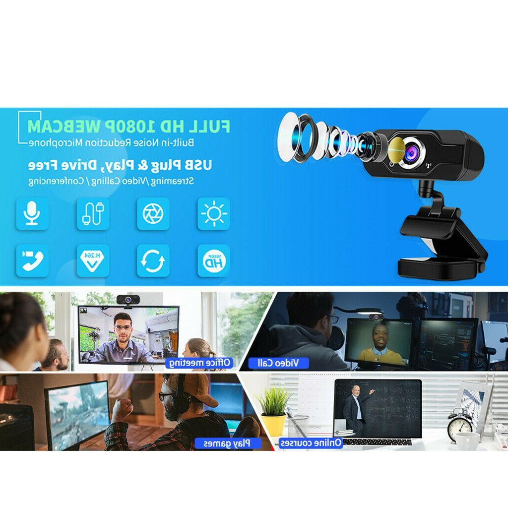 HD 1080P Webcam with Microphone PC/Mac Laptop/Desktop