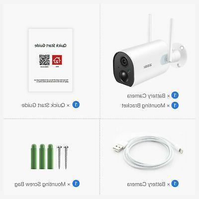 ZOSI Wireless Camera Battery Powered Outdoor PIR