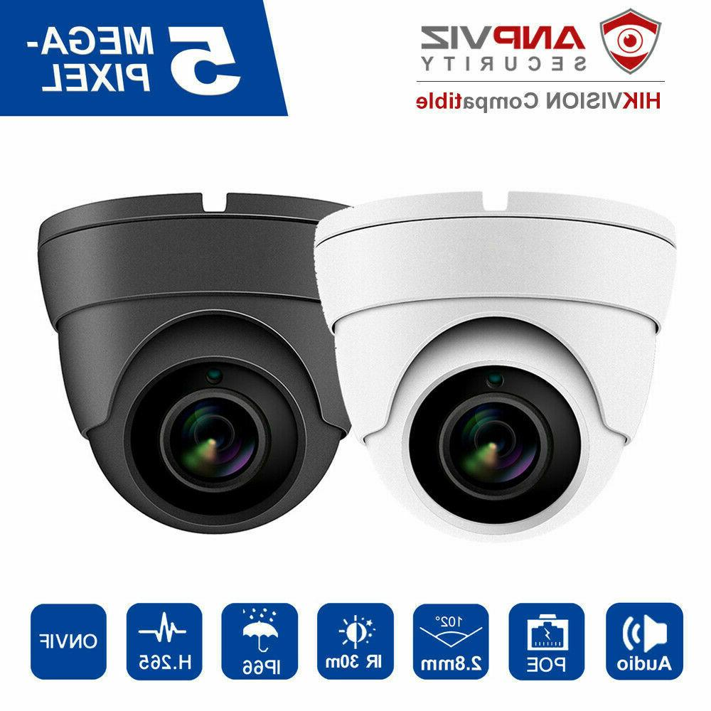 hikvision compatible ip camera dome 5mp poe