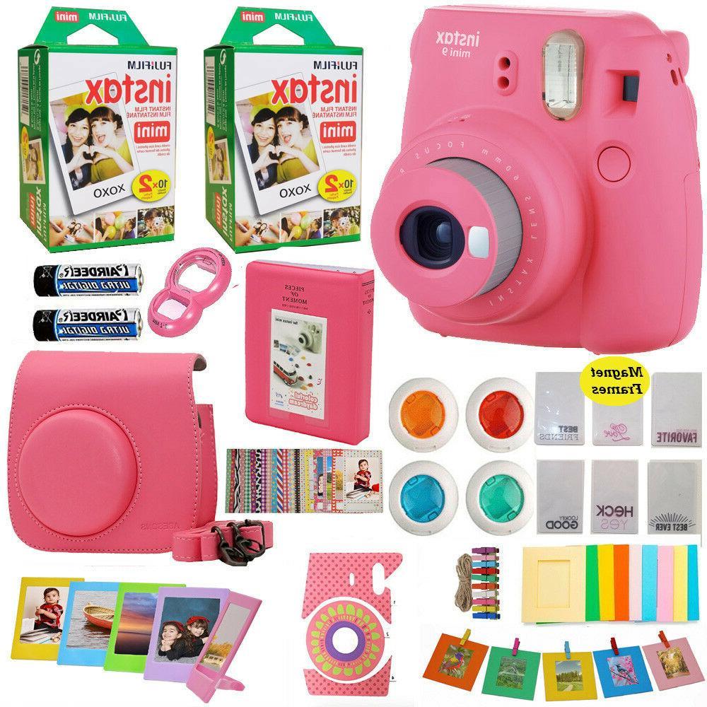 instax mini 9 instant camera pink 40