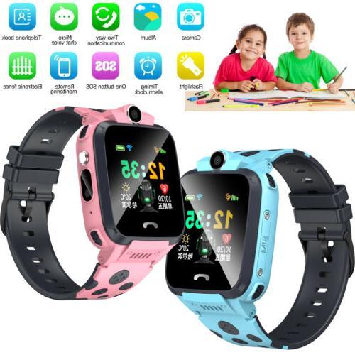 kids smart watch camera flash light sos