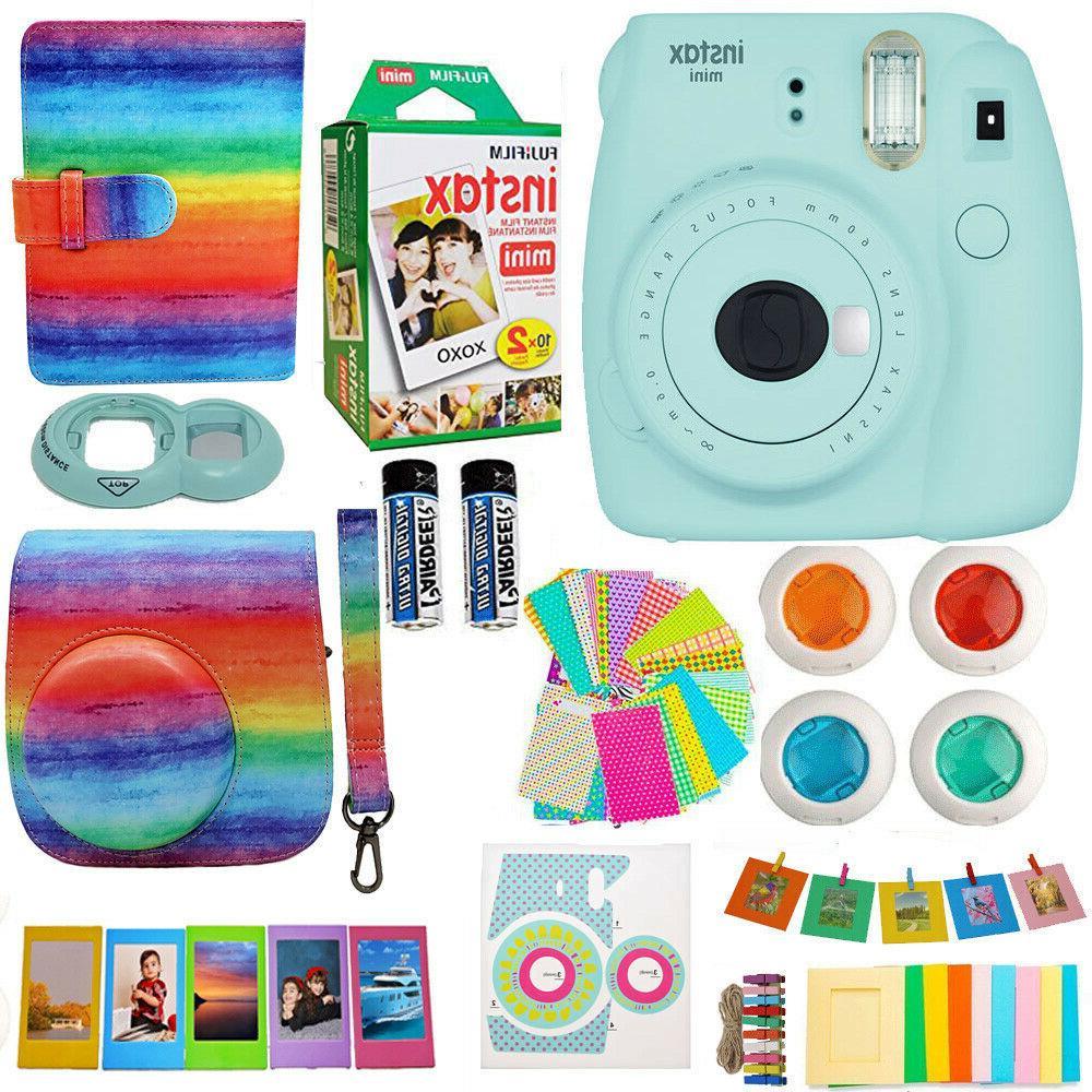 mini 9 instant camera blue 20 film