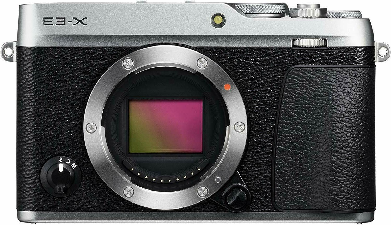 FUJIFILM X-E3 Mirrorless Digital Camera Body Only Silver EMS
