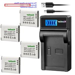 Kastar LCD Charger Battery for Olympus Li-50B LI-50C & Tough