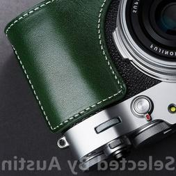 Leather Half Camera Case Bag Cover For Fuji X100V Fujifilm H