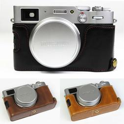 Leather Half Case Grip for FUJIFILM FUJI X100 X100S X100T X1