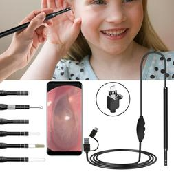 LED Endoscope Otoscope Camera Tool Ear Cleaning Wax Pick Cle
