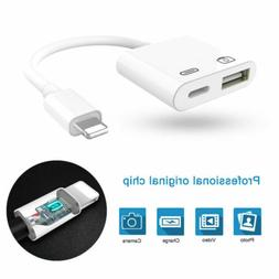 Lightning to Camera USB Female OTG Adapter Charging Cable Fo