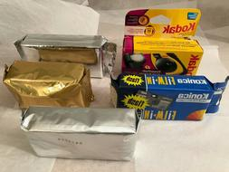 lot of 5 disposable cameras NEW Kodak Konica panoramic 3-D 3