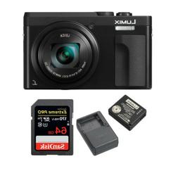 Panasonic Lumix DC-ZS70K Digital Camera w/ 64GB SD Card & Tr