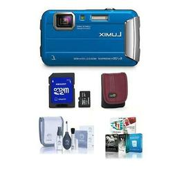 Panasonic Lumix DMC-TS30 Digital Camera, 16.1MP Blue - Bundl