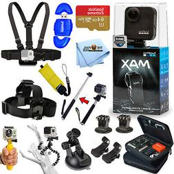 GoPro MAX 360 Action Camera All In 1 PRO ACCESSORY KIT W/ 64