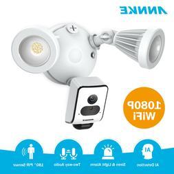 ANNKE Metal 1080P Floodlight AI Camera WiFi Security Siren A