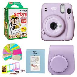 Fujifilm Mini 11 Lilac Purple Instant Camera +20 Film Case,