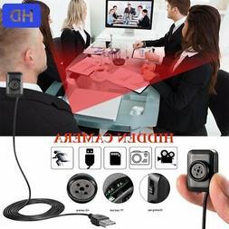 Mini Hidden Button Camera HD 1080P DVR Video Motion Detectio