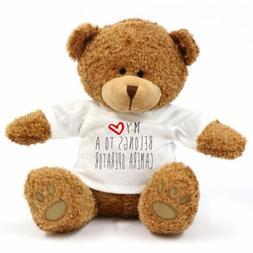 My Heart Belongs To A Camera Operator Large Teddy Bear - Gif