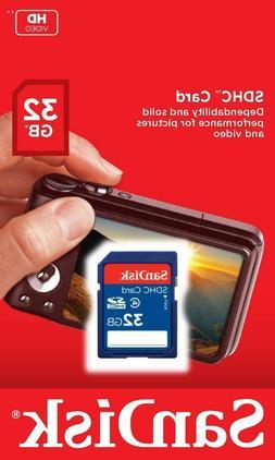 New SanDisk 32GB SD SDHC Class 4 Camera Flash Memory Card 32
