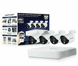 NEW Night Owl 4 Channel 4 Wired Spotlight Cameras 1080p 1T