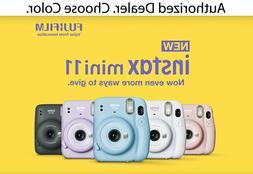 NEW! Fujifilm Instax Mini 11 Instant Print Film Camera - Cho