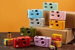 NEW - Kodak Vintage retro M35 35mm Reusable Film Camera Pink
