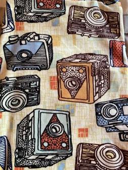 New Lularoe Leggings OS Retro Vintage Cameras Photography On