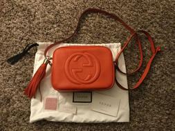NWOT GUCCI Soho Disco Camera Bag Color Orange