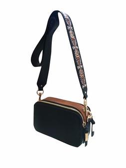 NWT Steve Madden Embroidered Camera Strap Bag - Black