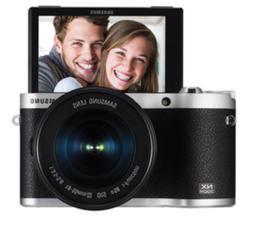 SAMSUNG NX300M Wi-Fi Smart Camera Kit 16-50mm OSS Lens -Blac