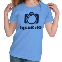 Oh Snap Camera Pun Funny Photographer Gift Tee Shirts Tshirt