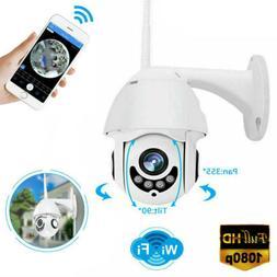 WiFi PTZ HD1080P Home/Outdoor Security Wireless IP IR Camera