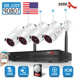 ANRAN Outdoor Wireless Security WIFI Camera System 1080P 8CH