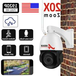 Pan/Tilt 1080P WIFI Wireless IP Camera Security System CCTV