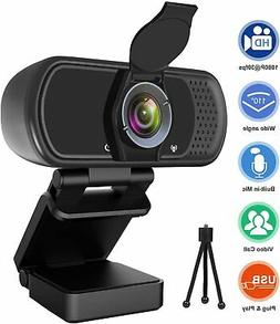 Webcam With Microphone USB Computer Camera 1080P HD Streamin