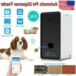 Pet Automatic Feeder Dog Cat Food Night Vision Dispenser Sma