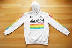 Polaroid Hoodie Sweatshirt White Rainbow 320 Land Camera Men