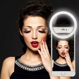 Portable Luxury Selfie LED Camera Ring Flash Fill Light For