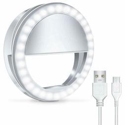 Portable Selfie LED Light Ring Fill Camera Flash For Mobile