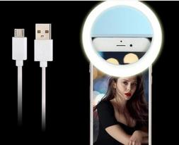 Portable Selfie LED Ring Flash Light Camera Photography For