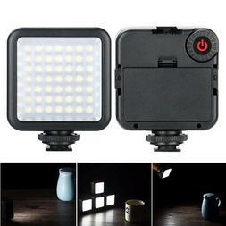 Portable W49 Camera LED Video Light Interlock Adjustable Min