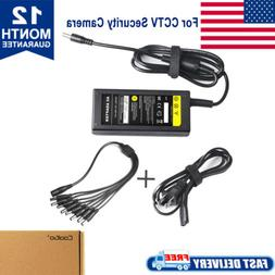 Power Supply Adapter with 8 way Splitter Security system CCT