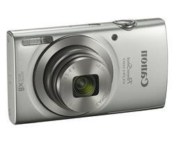 Canon PowerShot ELPH 180 20MP 8x Optical Zoom HD Video Silve