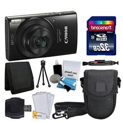 Canon PowerShot ELPH 190 IS Digital Camera  Great Value Acce