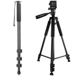 "Pro 60"" Tripod + 72"" Monopod for Olympus E-10 Camera"